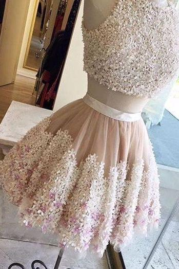 Homecoming Dresses, Homecoming Dresses 2018, Two Pieces Homecoming Dresses, Short Homecoming Dresses, Beading Homecoming Dresses, Short Prom Dresses, Short Party Dresses, Prom Dresses, Cocktail Dress