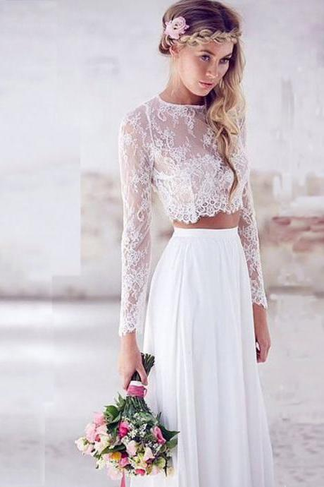 Prom Dresses,Two Pieces Prom Dresses, Lace Prom Dresses, Two Pieces Prom Dresses, Chiffion Wedding Dresses, Long Party Dresses, Evening Dresses, Party Dresses