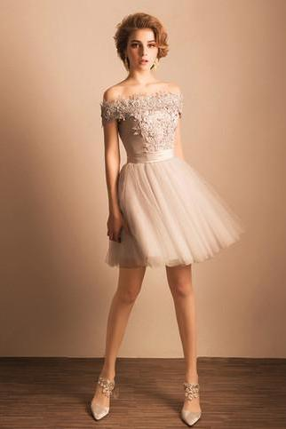 Homecoming Dresses, Homecoming Dresses 2018, Off Shoulder Homecoming Dresses, Applique Homecoming Dresses, Tulle Homecoming Dresses, Short Prom Dresses, Short Party Dresses, Prom Dresses, Cocktail Dress