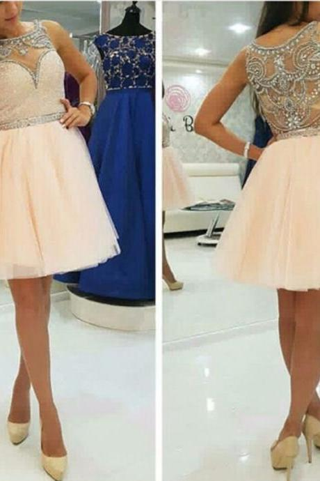 Homecoming Dresses, Homecoming Dresses 2018, Beading Homecoming Dresses, Tulle Homecoming Dresses, Short Homecoming Dresses, Short Prom Dresses, Short Party Dresses, Prom Dresses, Cocktail Dress