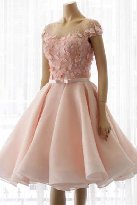 Homecoming Dresses, Short Homecoming Dresses 2018, Roune Neck Homecoming Dresses, Applique Homecoming Dresses, Tulle Homecoming Dresses, Short Prom Dresses, Short Party Dresses, Prom Dresses, Cocktail Dress
