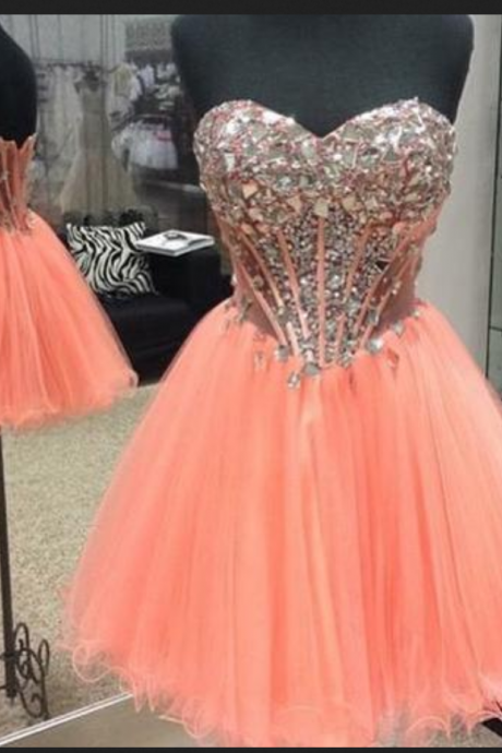 Homecoming Dresses, Homecoming Dresses 2018, Sweetheart Homecoming Dresses, Beading Tulle Homecoming Dresses, Tulle Homecoming Dresses, Short Prom Dresses, Short Party Dresses, Prom Dresses, Cocktail Dress